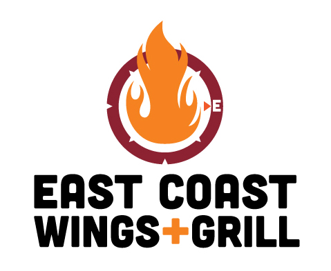Sponsor of Attitude MMA Fights IX - East Coast Wings + Grill Wolfchase logo