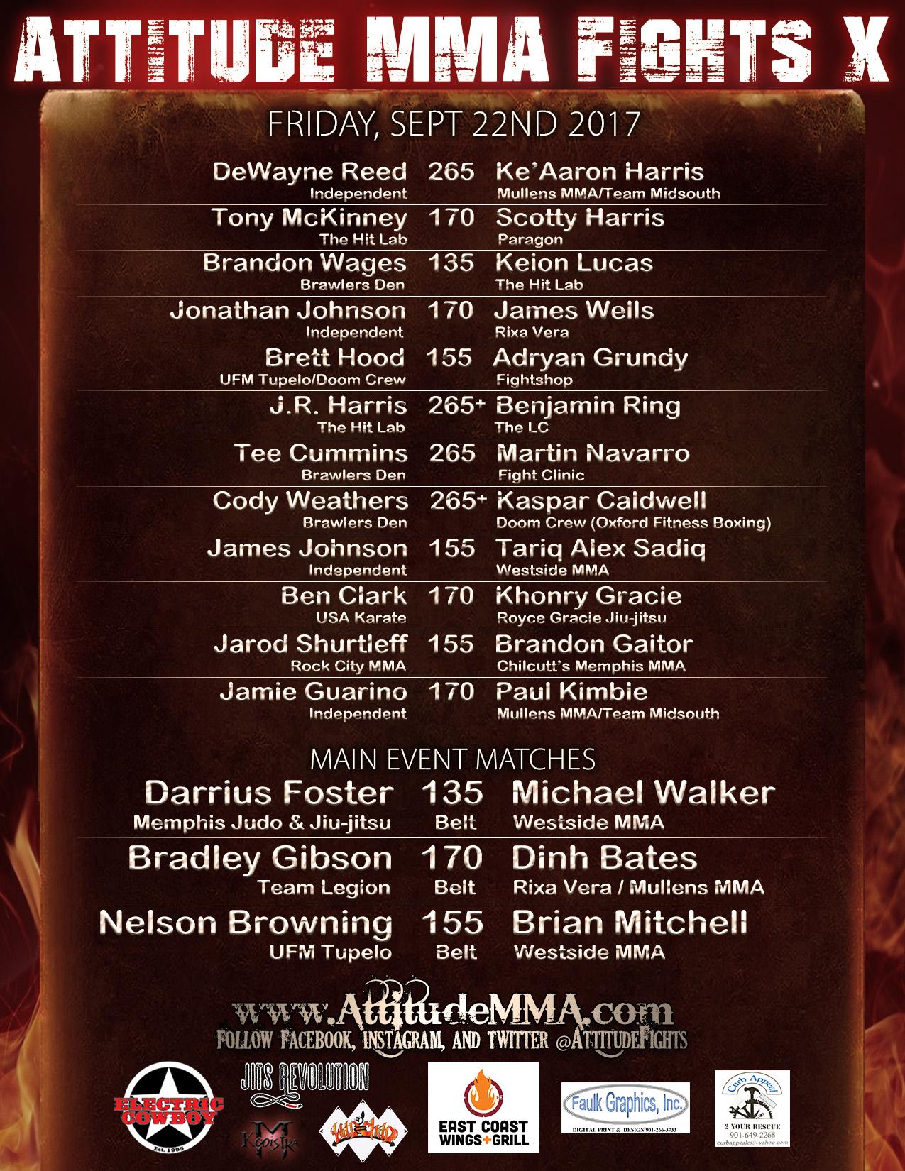 Attitude MMA Fights X
