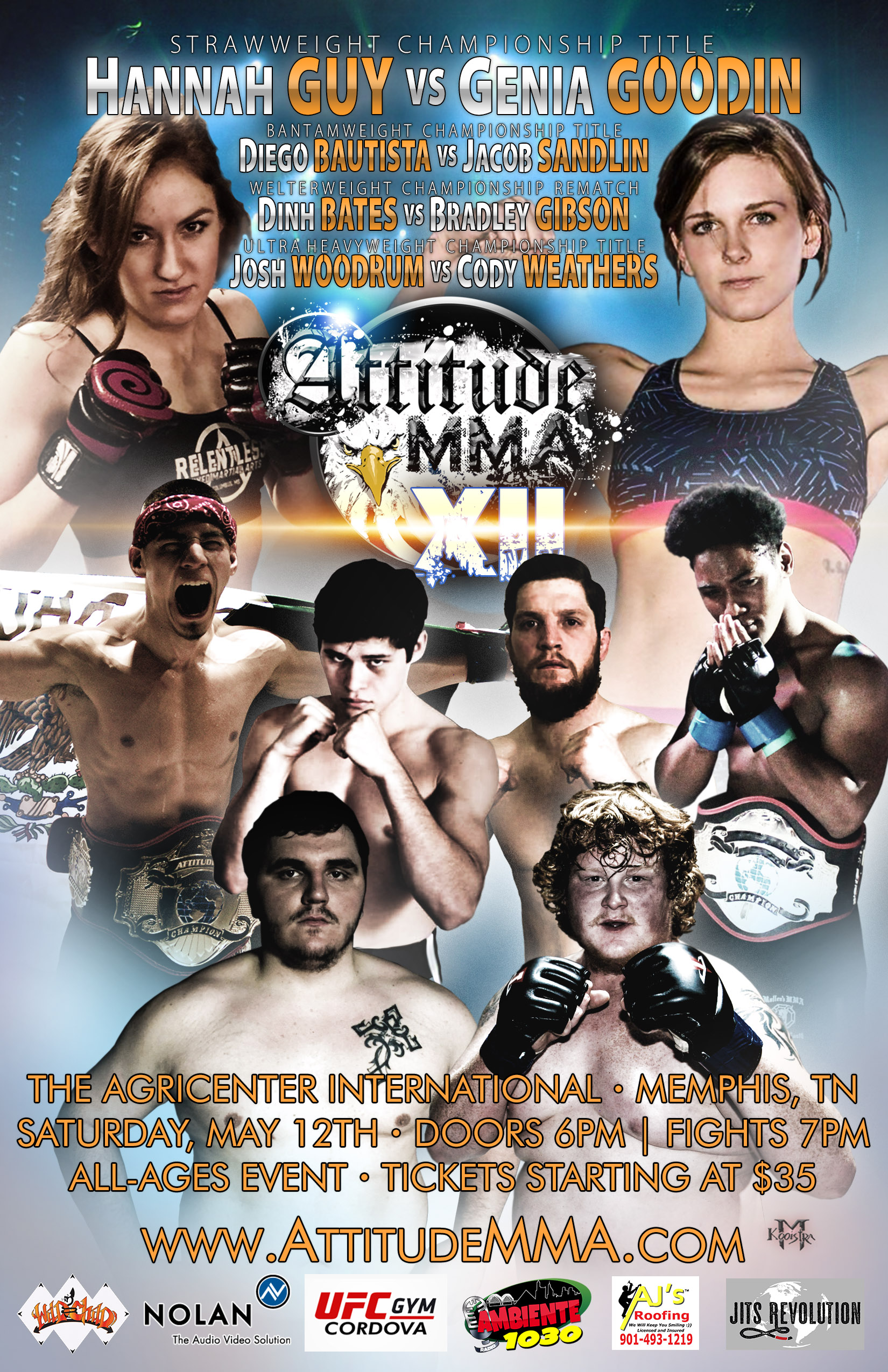 Attitude MMA Fights XII at The Agricenter International May 12, 2018